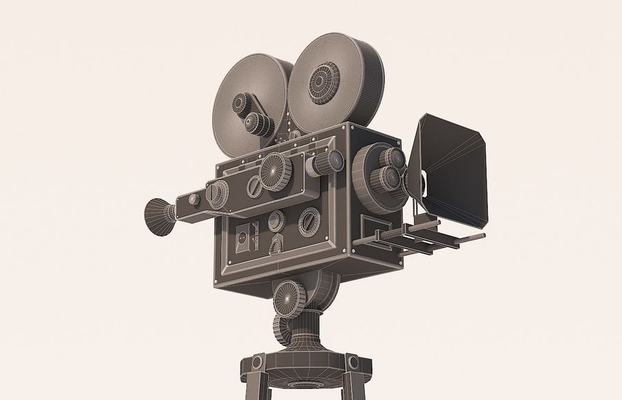 movie camera royalty-free 3d model - Preview no. 8