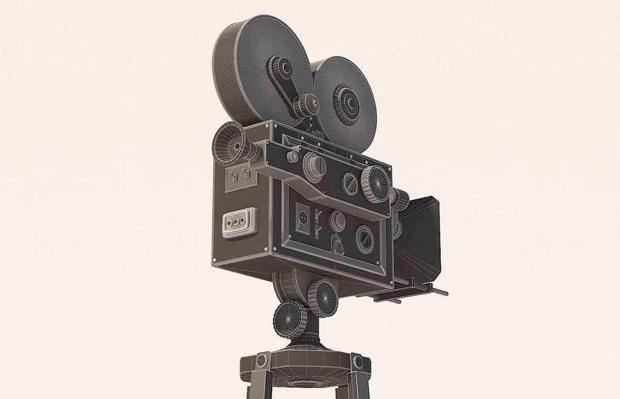 movie camera royalty-free 3d model - Preview no. 6