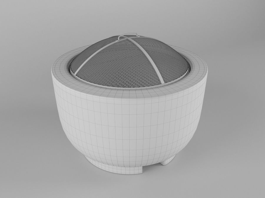BBQ grill royalty-free 3d model - Preview no. 5