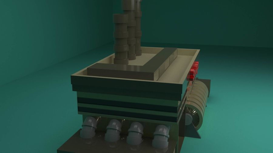 The Sewage Plant-Low Poly 3d model Low-poly royalty-free 3d model - Preview no. 4