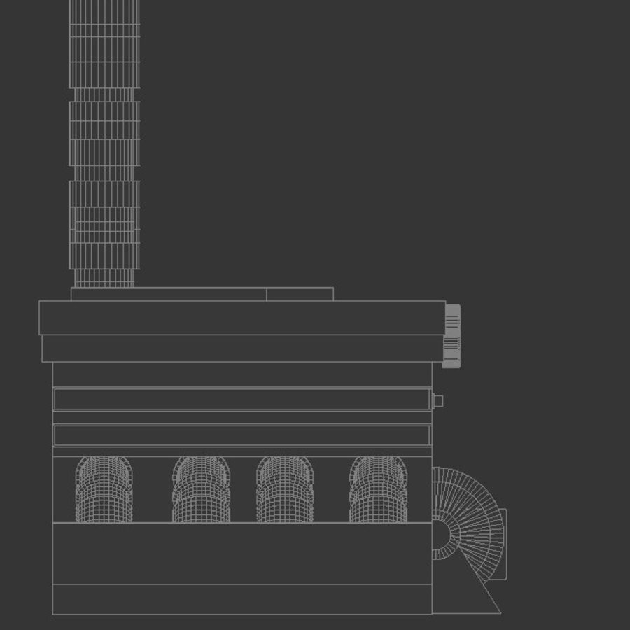 The Sewage Plant-Low Poly 3d model Low-poly royalty-free 3d model - Preview no. 1