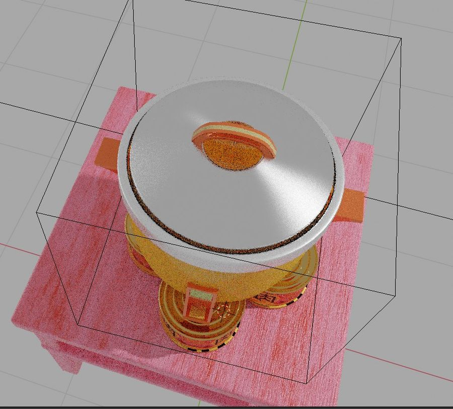rice cooker royalty-free 3d model - Preview no. 4