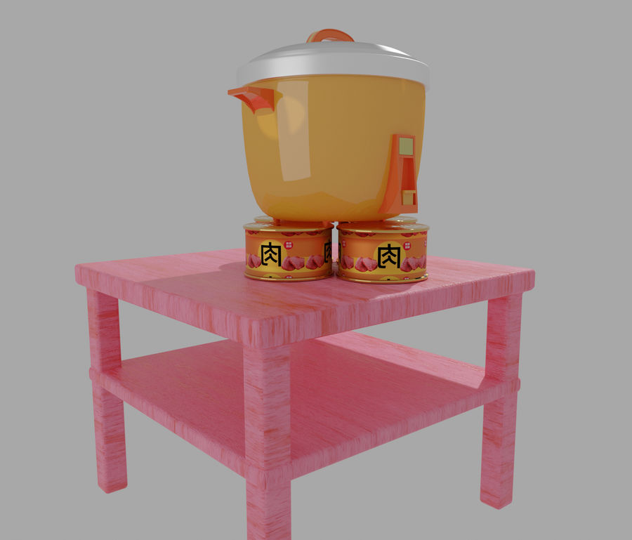 rice cooker royalty-free 3d model - Preview no. 5