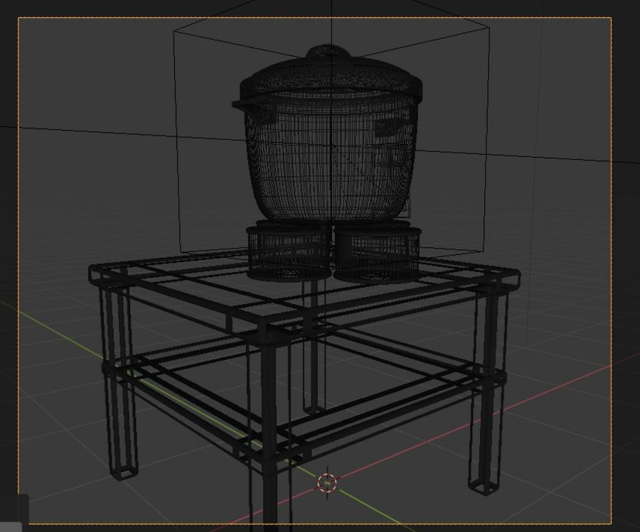 rice cooker royalty-free 3d model - Preview no. 3