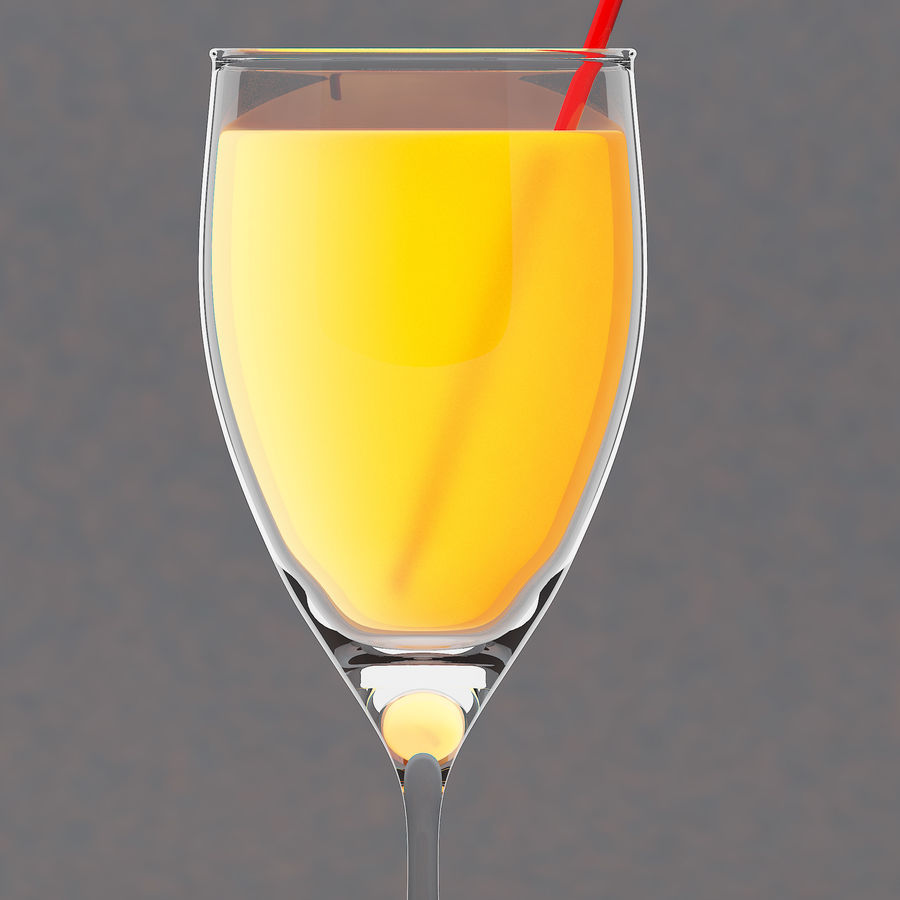 Juice glass royalty-free 3d model - Preview no. 1