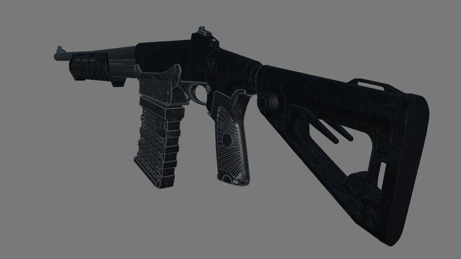 M.F.S gun royalty-free 3d model - Preview no. 2