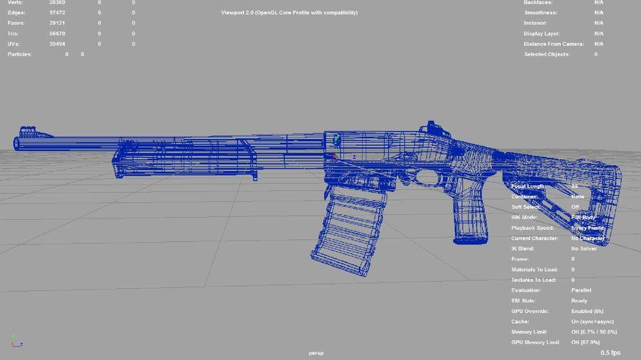 M.F.S gun royalty-free 3d model - Preview no. 4