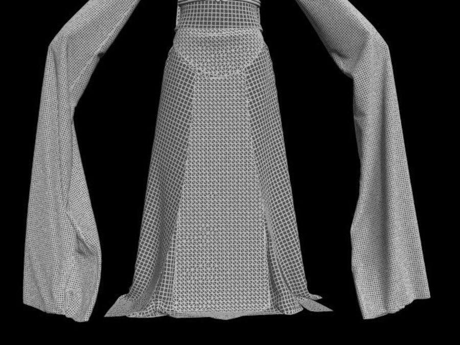 Traditional Chinese Dancer Dress royalty-free 3d model - Preview no. 20