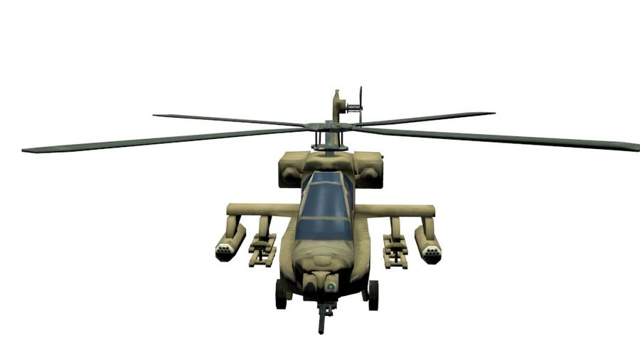 Gunship royalty-free 3d model - Preview no. 3