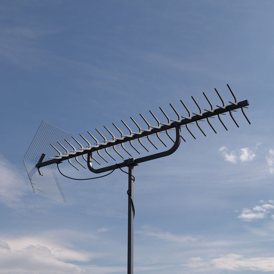 TV antenna royalty-free 3d model - Preview no. 2