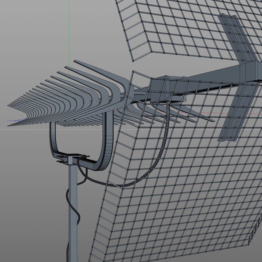 TV antenna royalty-free 3d model - Preview no. 5