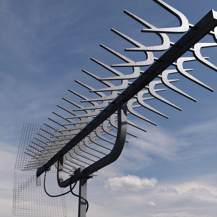TV antenna royalty-free 3d model - Preview no. 3