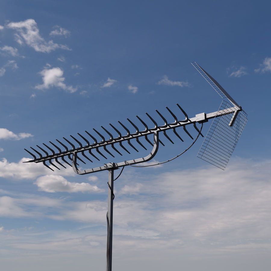 TV antenna royalty-free 3d model - Preview no. 1