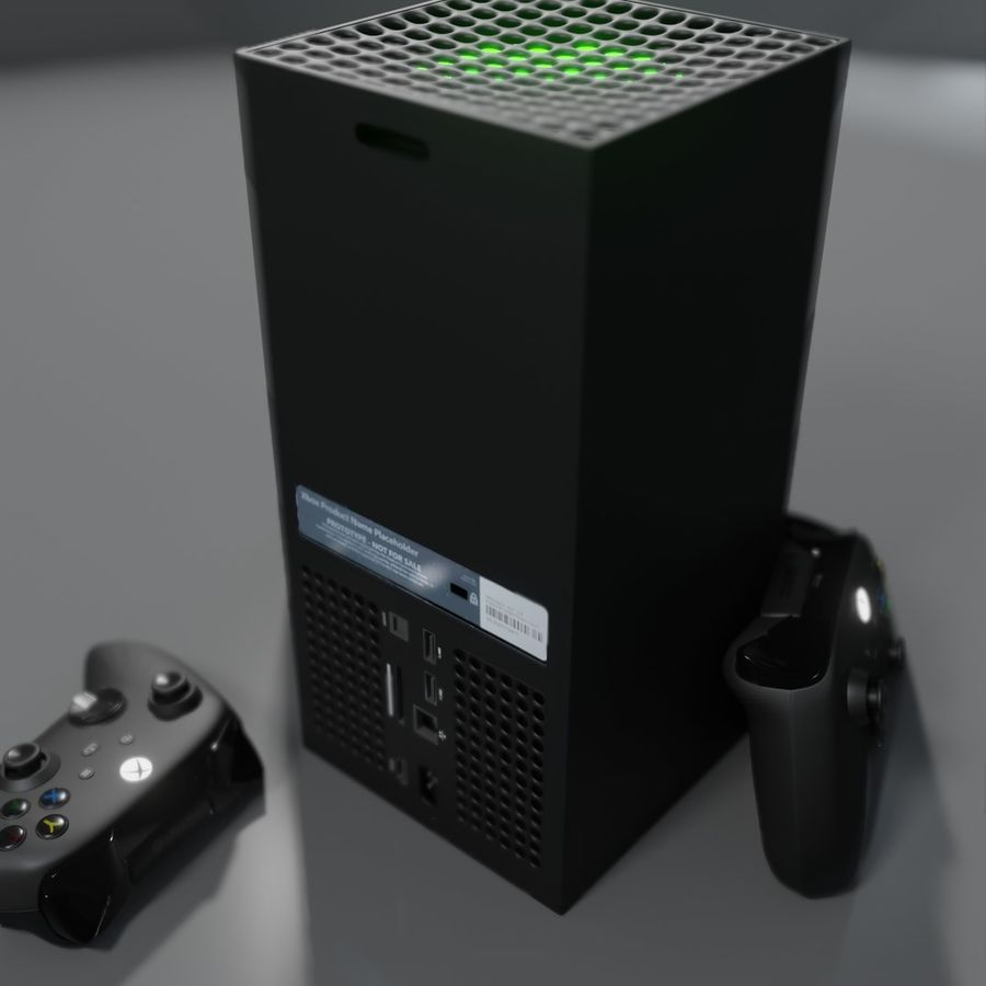 Xbox Series X royalty-free 3d model - Preview no. 7