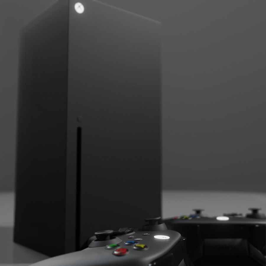 Xbox Series X royalty-free 3d model - Preview no. 6