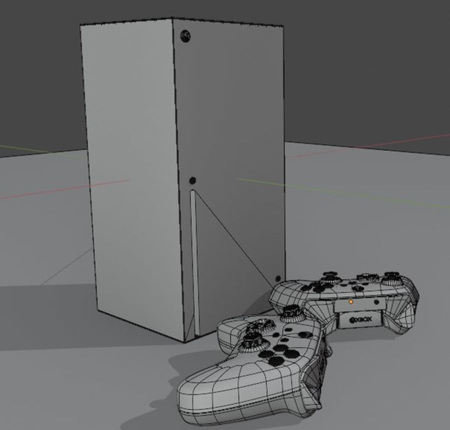 Xbox Series X royalty-free 3d model - Preview no. 4