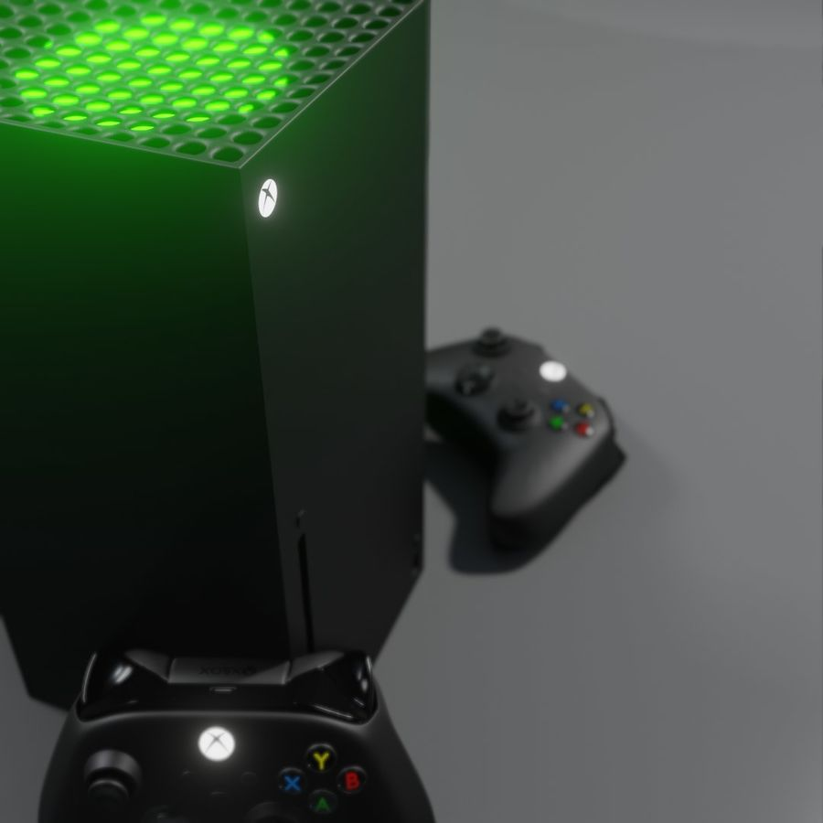 Xbox Series X royalty-free 3d model - Preview no. 9