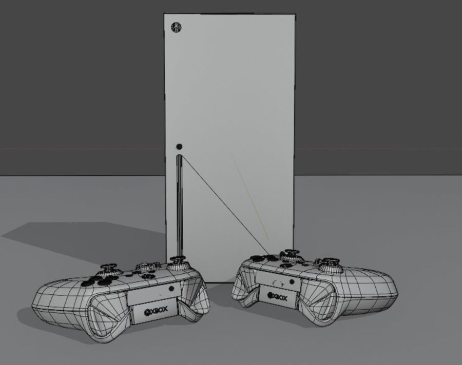 Xbox Series X royalty-free 3d model - Preview no. 1