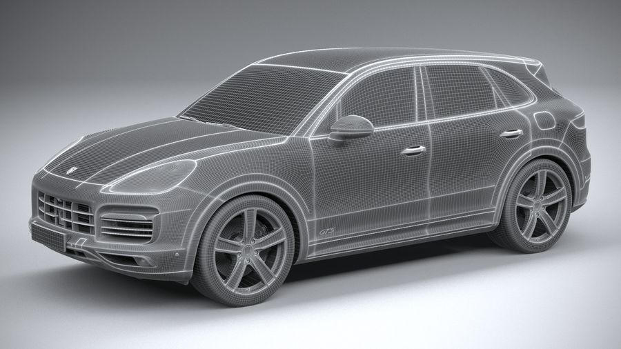 Porsche Cayenne GTS 2020 royalty-free 3d model - Preview no. 27