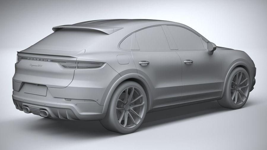 Porsche Cayenne GTS Coupe 2020 royalty-free 3d model - Preview no. 28