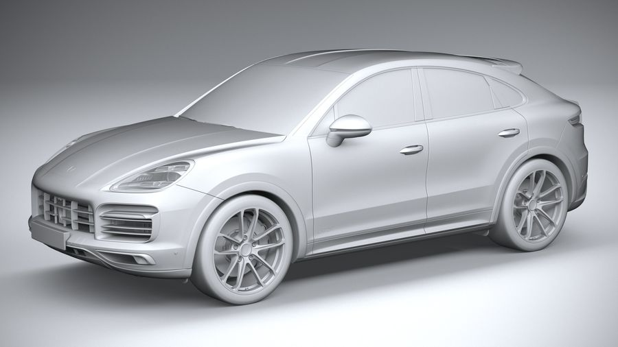 Porsche Cayenne GTS Coupe 2020 royalty-free 3d model - Preview no. 22