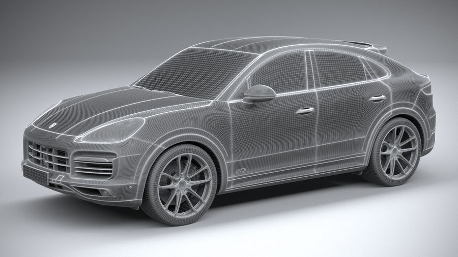 Porsche Cayenne GTS Coupe 2020 royalty-free 3d model - Preview no. 29