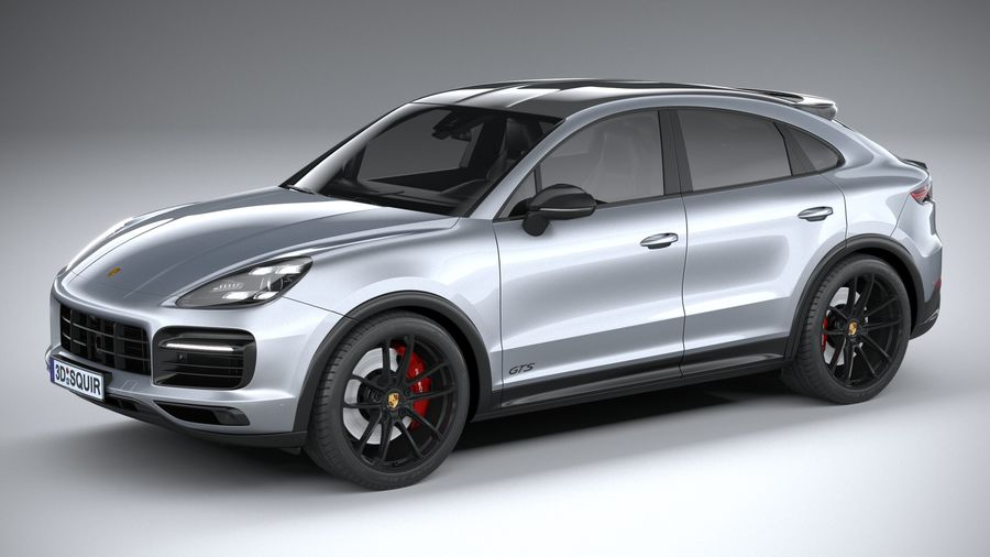 Porsche Cayenne GTS Coupe 2020 royalty-free 3d model - Preview no. 1