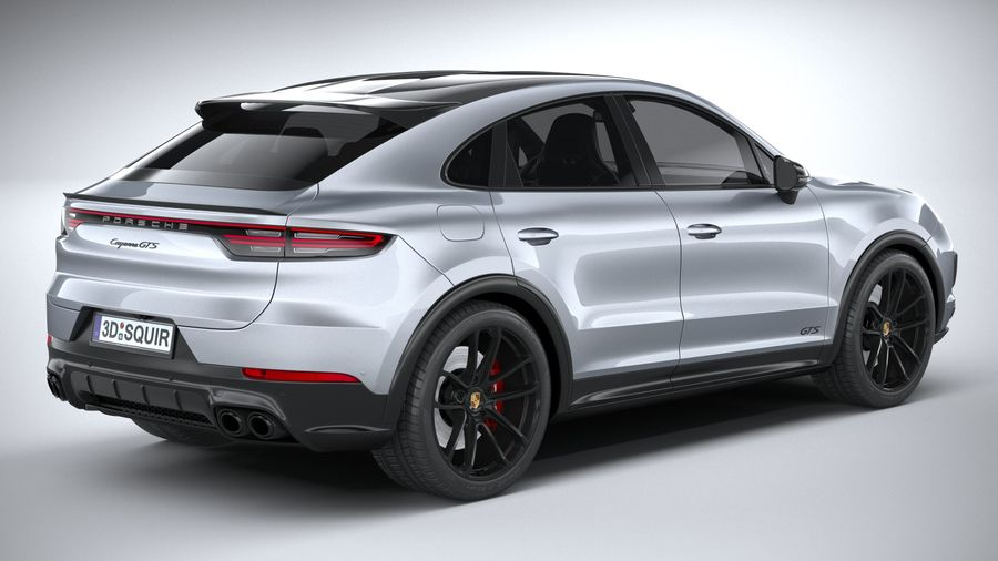 Porsche Cayenne GTS Coupe 2020 royalty-free 3d model - Preview no. 21