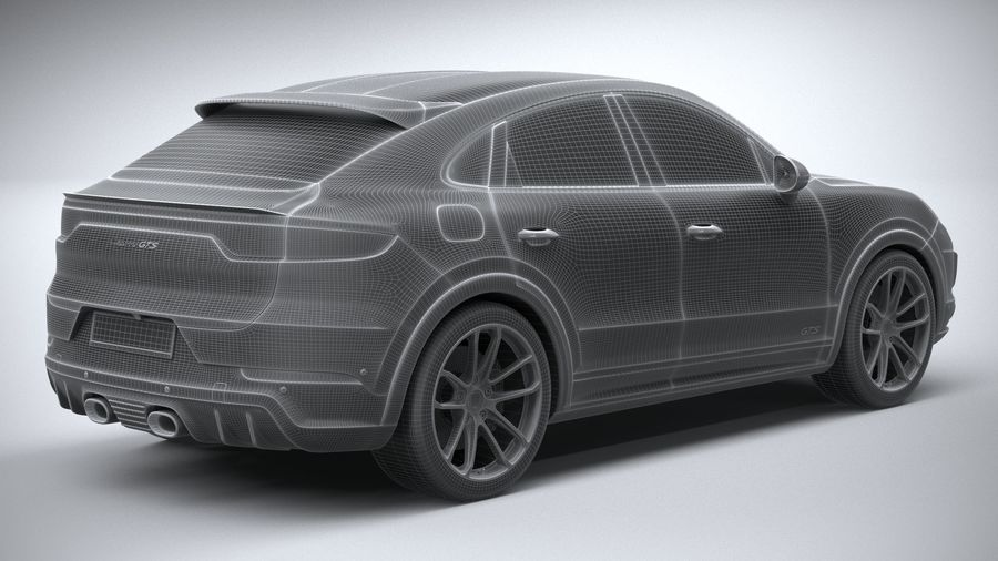 Porsche Cayenne GTS Coupe 2020 royalty-free 3d model - Preview no. 30