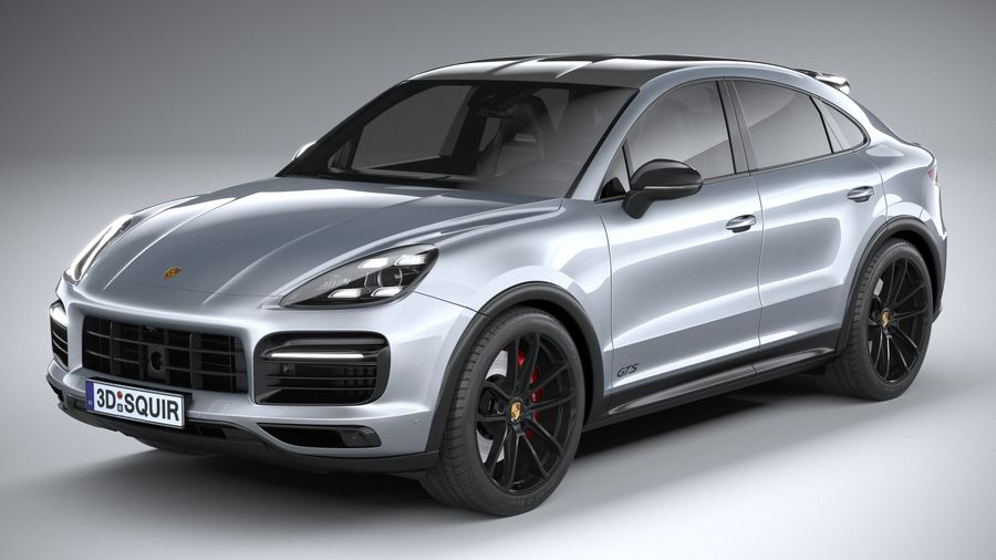 Porsche Cayenne GTS Coupe 2020 royalty-free 3d model - Preview no. 2