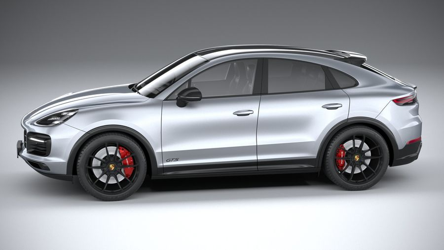 Porsche Cayenne GTS Coupe 2020 royalty-free 3d model - Preview no. 9