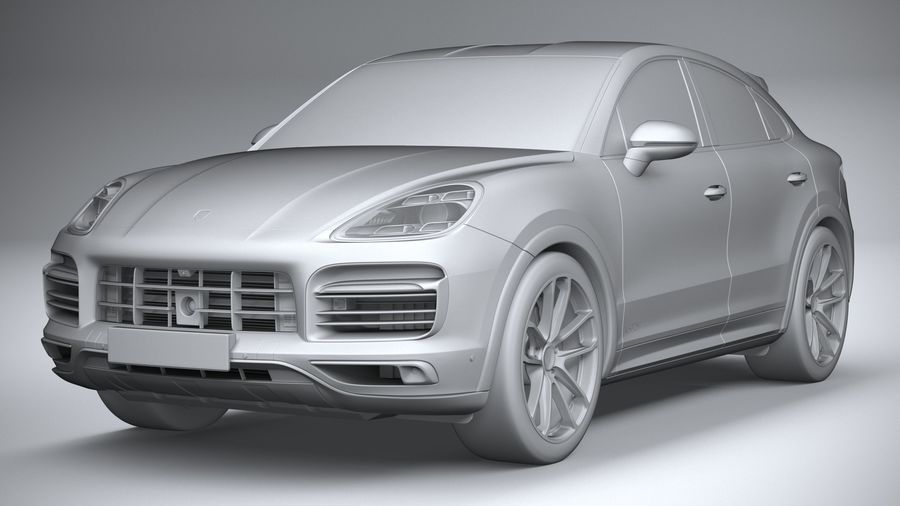 Porsche Cayenne GTS Coupe 2020 royalty-free 3d model - Preview no. 23