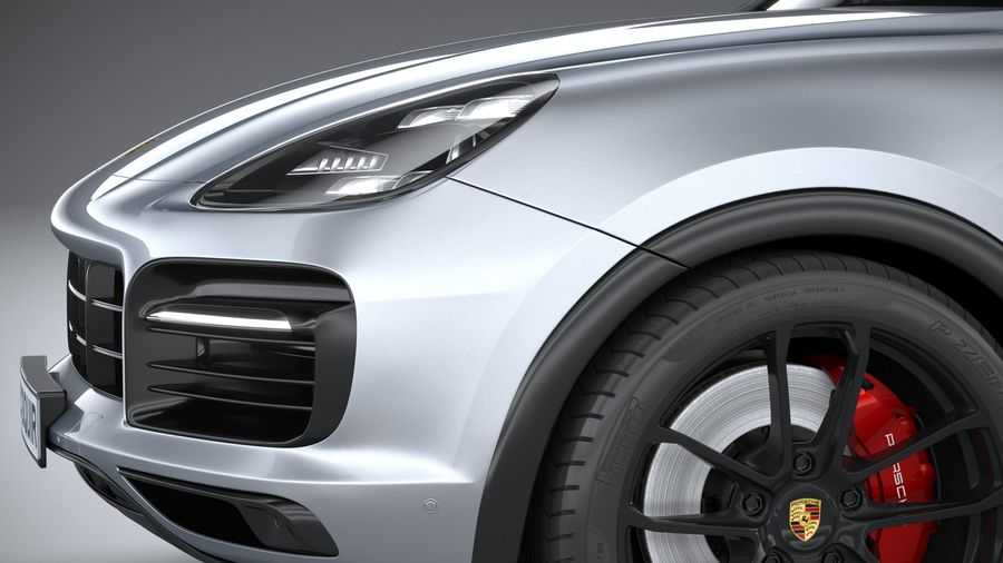 Porsche Cayenne GTS Coupe 2020 royalty-free 3d model - Preview no. 4
