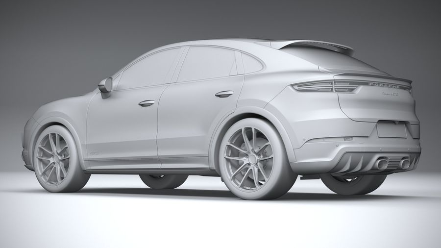 Porsche Cayenne GTS Coupe 2020 royalty-free 3d model - Preview no. 24