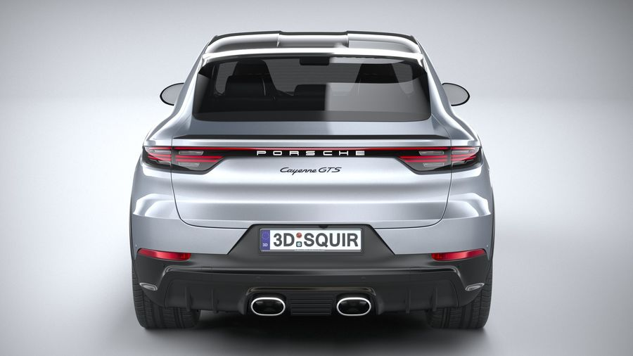 Porsche Cayenne GTS Coupe 2020 royalty-free 3d model - Preview no. 5