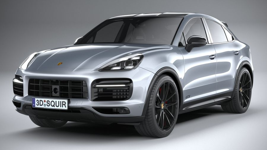 Porsche Cayenne GTS Coupe 2020 royalty-free 3d model - Preview no. 3