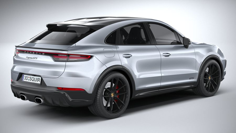 Porsche Cayenne GTS Coupe 2020 royalty-free 3d model - Preview no. 18