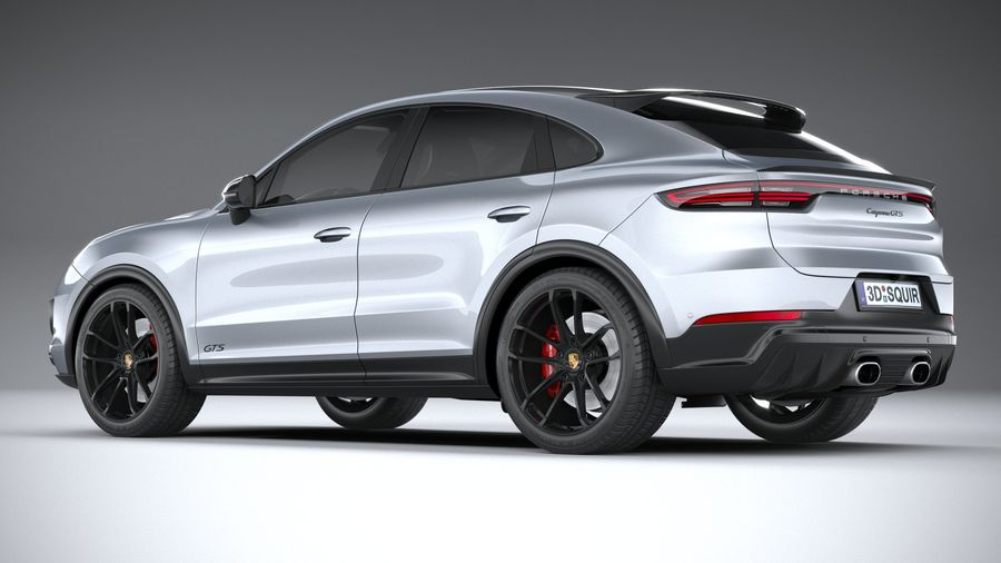 Porsche Cayenne GTS Coupe 2020 royalty-free 3d model - Preview no. 6