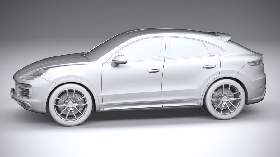 Porsche Cayenne GTS Coupe 2020 royalty-free 3d model - Preview no. 25
