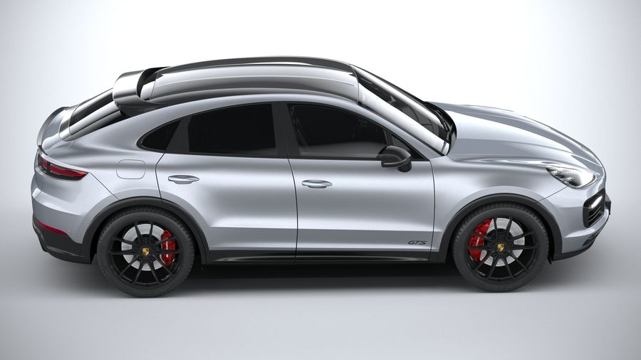 Porsche Cayenne GTS Coupe 2020 royalty-free 3d model - Preview no. 12