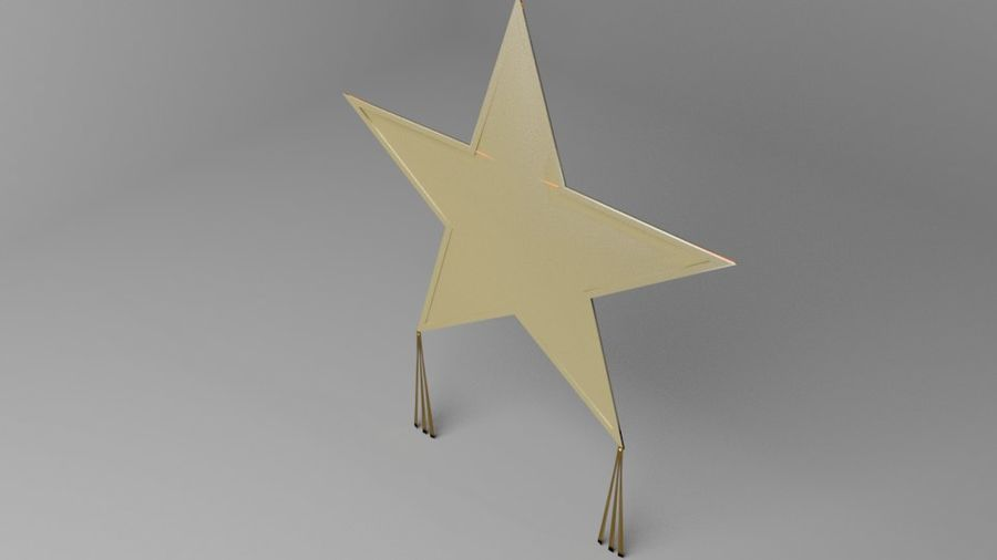 Star Kite royalty-free 3d model - Preview no. 2