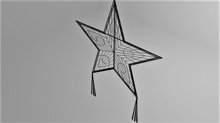 Star Kite royalty-free 3d model - Preview no. 8