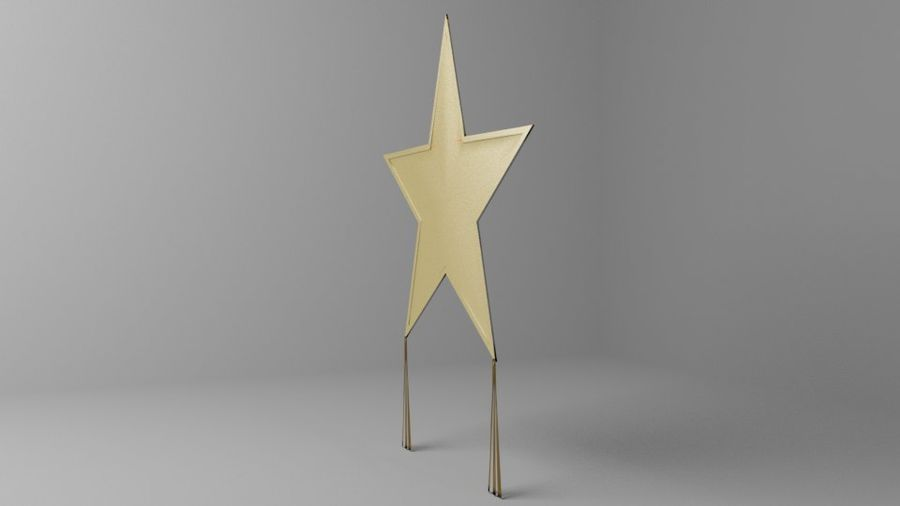 Star Kite royalty-free 3d model - Preview no. 5