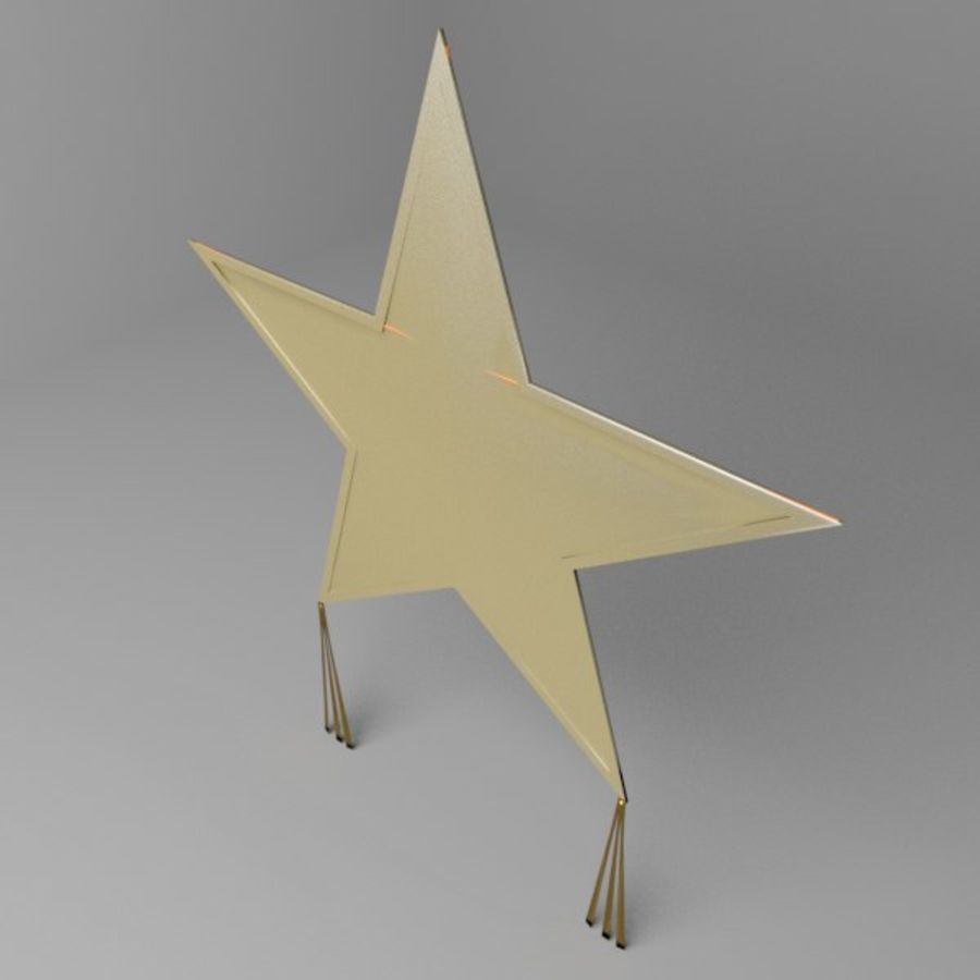 Star Kite royalty-free 3d model - Preview no. 1