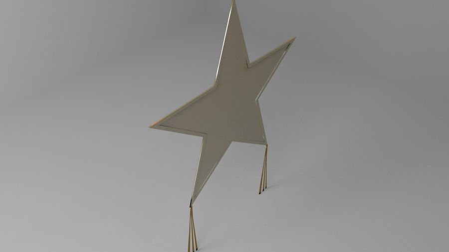 Star Kite royalty-free 3d model - Preview no. 6