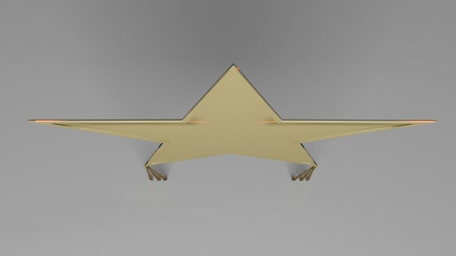 Star Kite royalty-free 3d model - Preview no. 4