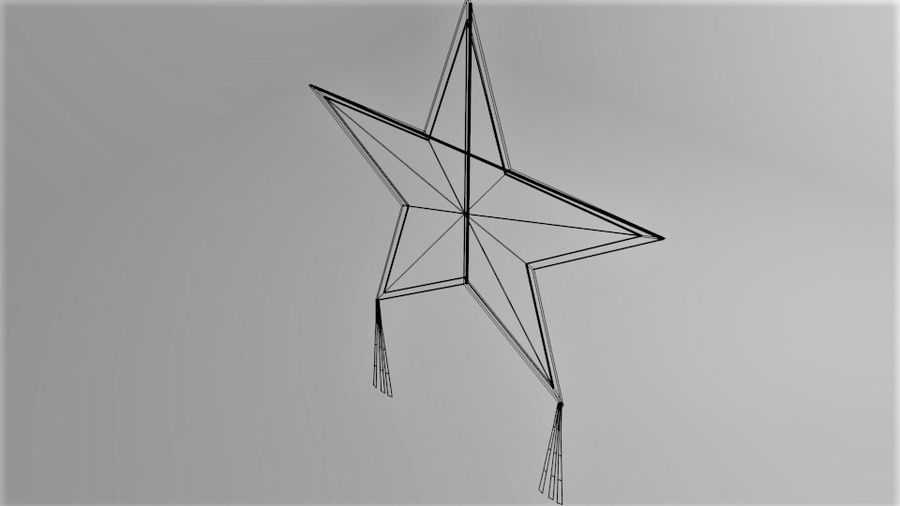 Star Kite royalty-free 3d model - Preview no. 7