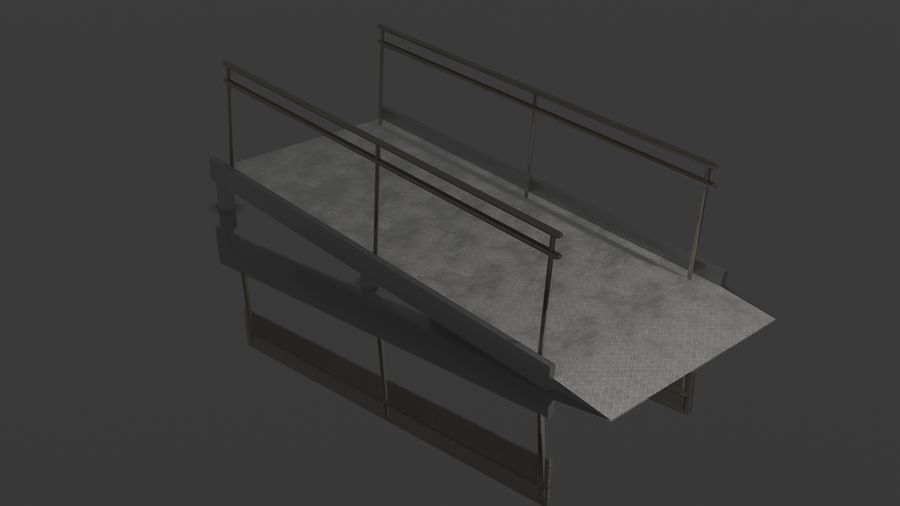 Access Ramp royalty-free 3d model - Preview no. 4