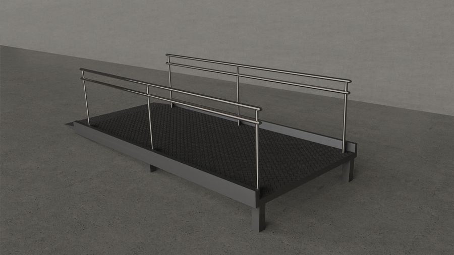 Access Ramp royalty-free 3d model - Preview no. 1