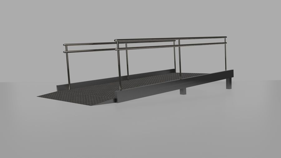 Access Ramp royalty-free 3d model - Preview no. 3